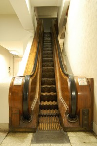 Antique Wood Escalator at the old Kauffmans Department Store in Pittsburgh, PA