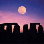 Stone Henge Under A Full Moon